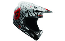 SixSixOne Evo Wired Helm schwarz/rot